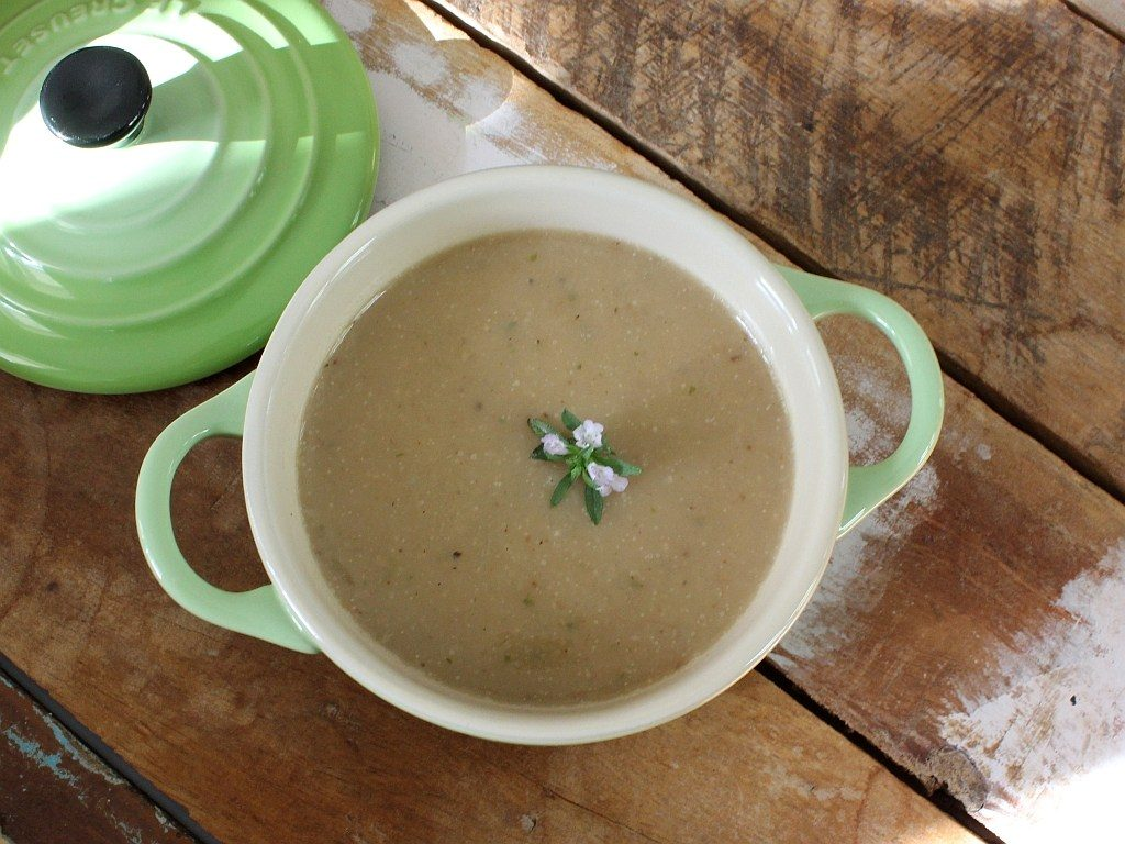 Geröstete Topinambur Karfiol Suppe_Rezept