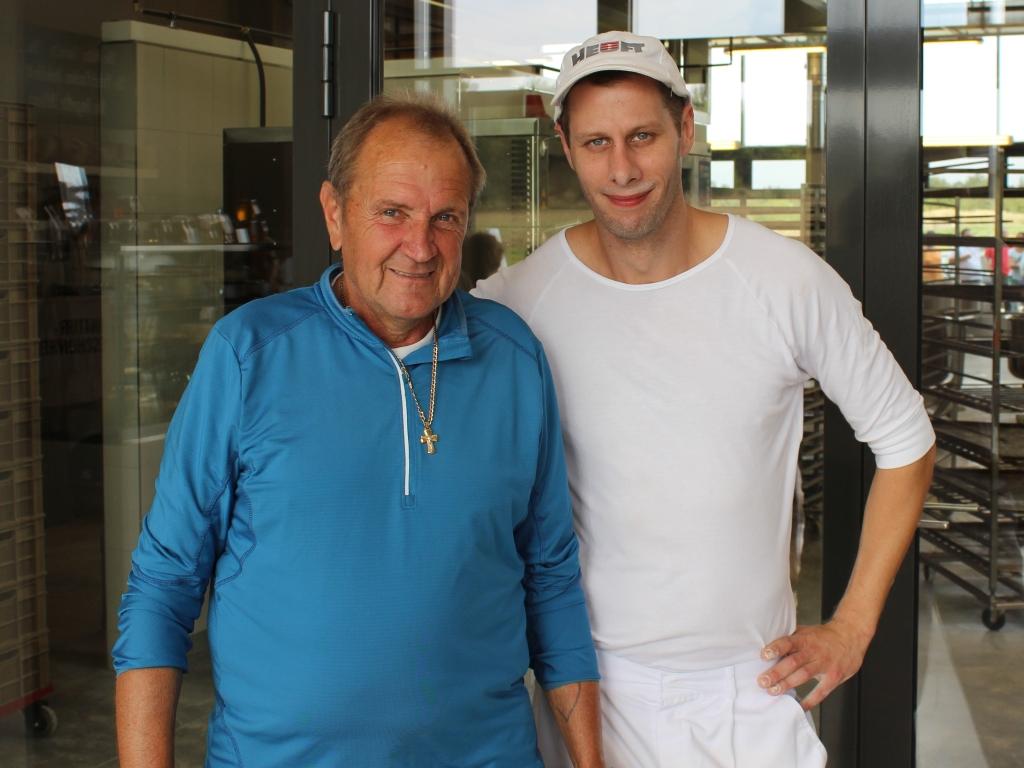 Mein Vater (links) mit Joseph Weghaupt von Joseph Brot